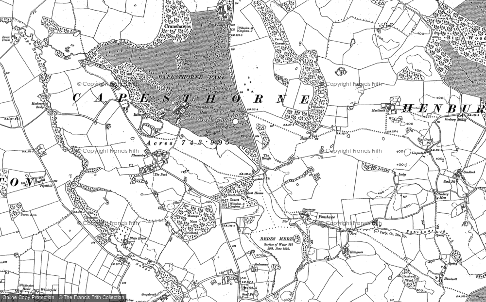 Old Map of Historic Map covering Alderley Park in 1897