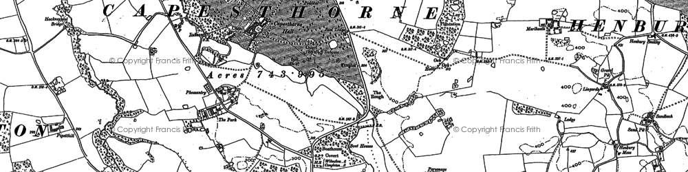 Old map of Alderley Park in 1897