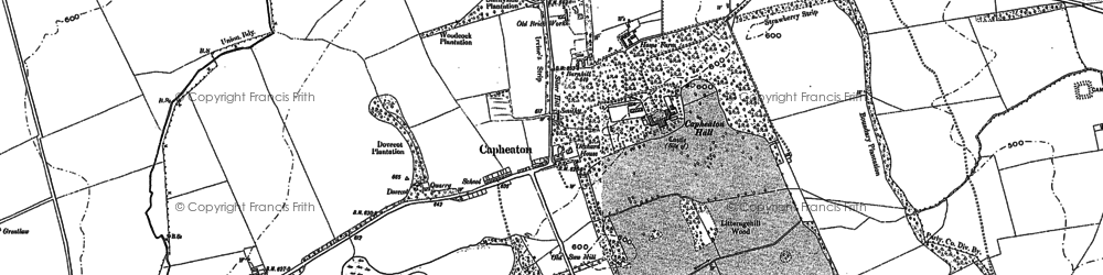 Old map of West Shaftoe in 1895