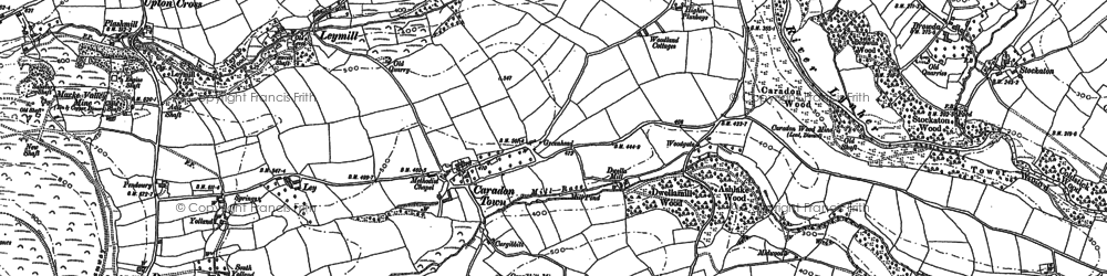 Old map of Downgate in 1882