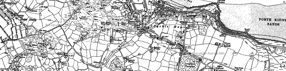 Old map of Longstone in 1877