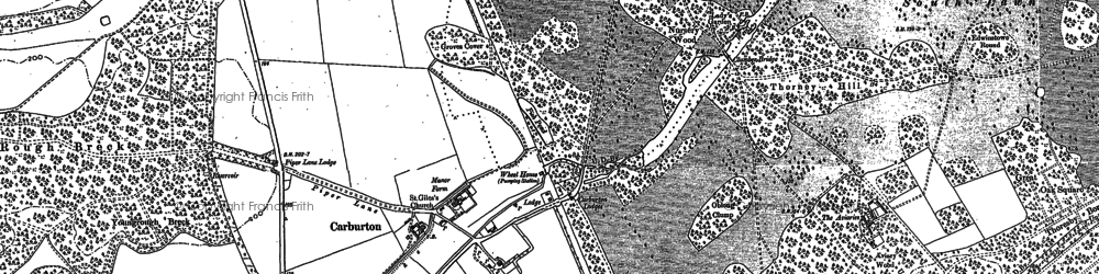 Old map of Aviaries, The in 1884