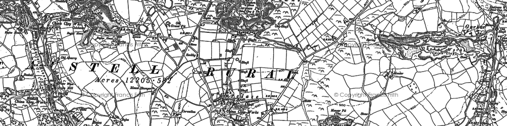 Old map of Carclaze in 1881