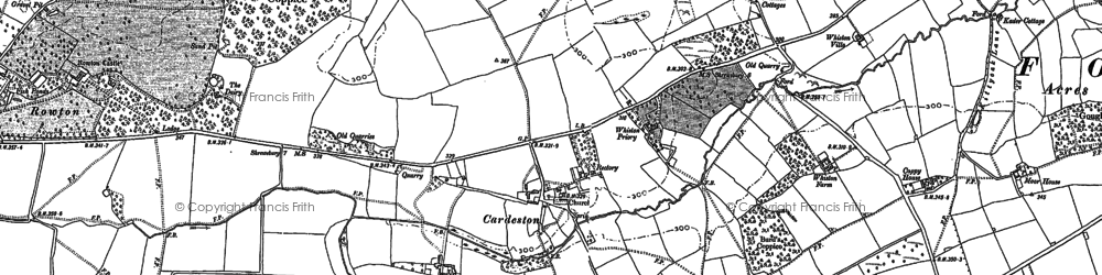 Old map of Whiston Priory in 1881