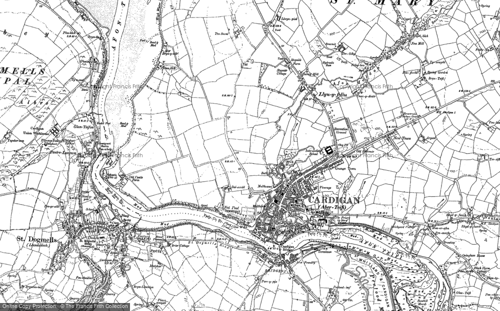 Old Map of Historic Map covering Albro Castle in 1904