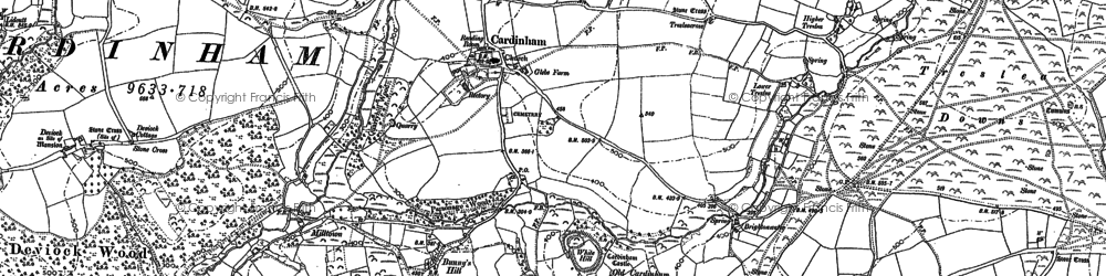 Old map of Cardinham in 1881