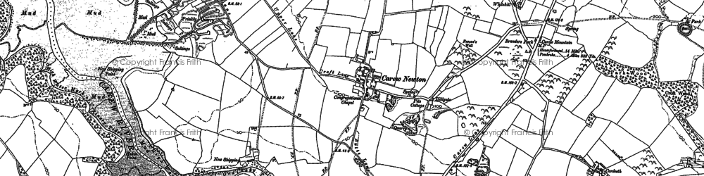 Old map of Whitehill in 1906