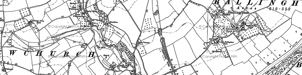 Old map of Witherstone in 1887