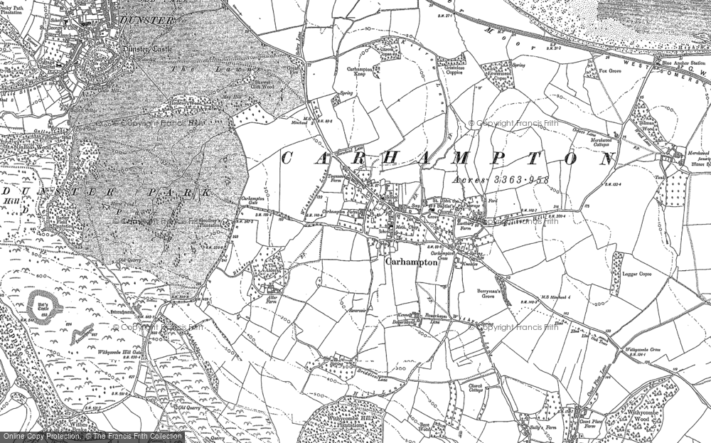 Old Map of Carhampton, 1887 - 1902 in 1887