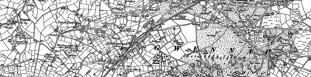 Old map of Carharrack in 1878