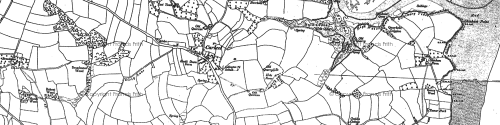 Old map of Carkeel in 1865