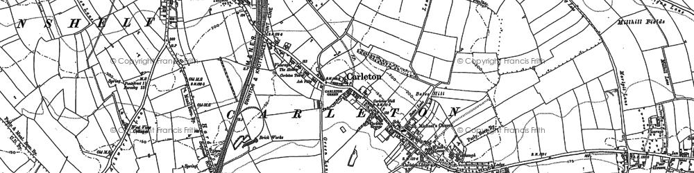 Old map of Carleton in 1860