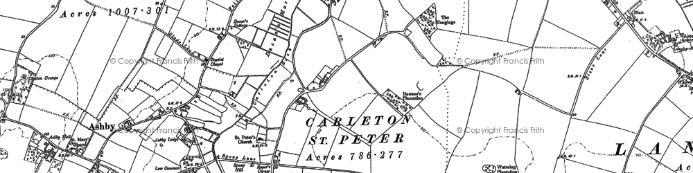 Old map of Langley Green in 1881