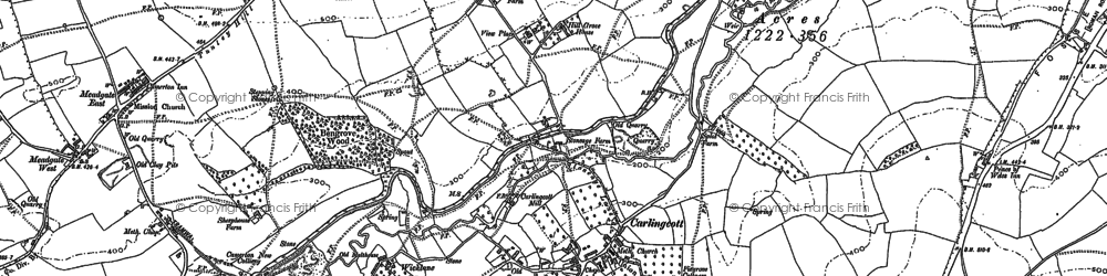 Old map of Wicklane in 1883