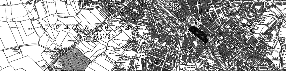 Old map of Carlisle in 1899