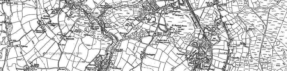 Old map of Carloggas in 1879