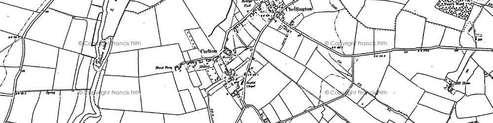 Old map of Carlton in 1882