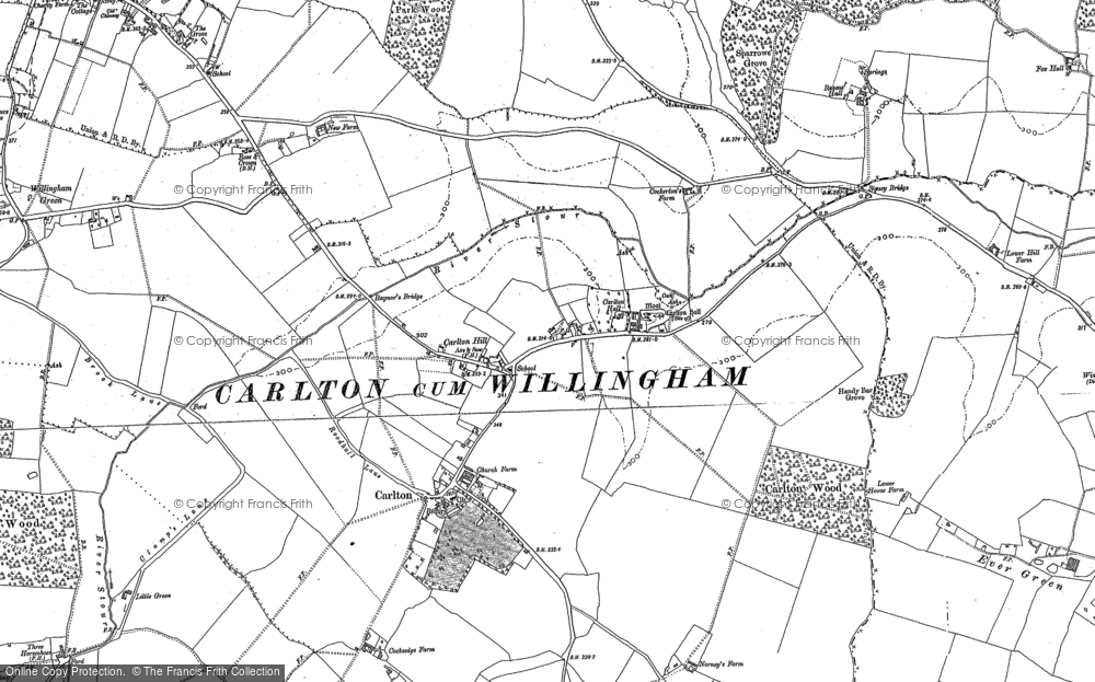 Old Map of Carlton, 1901 in 1901