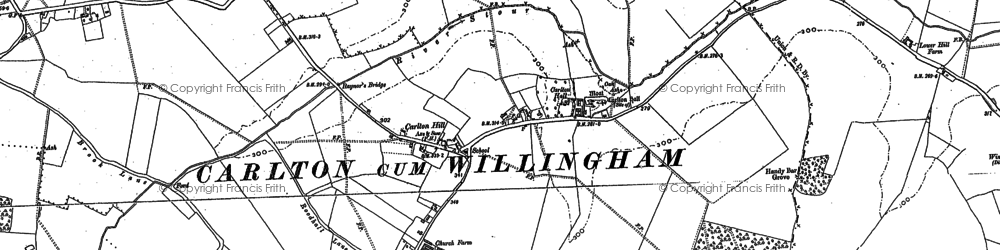 Old map of Carlton Green in 1901