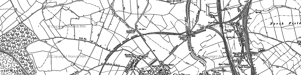 Old map of Carlton in 1914