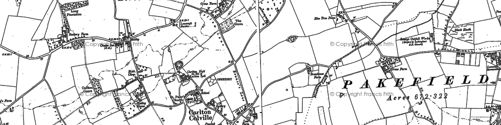 Old map of Carlton Colville in 1903
