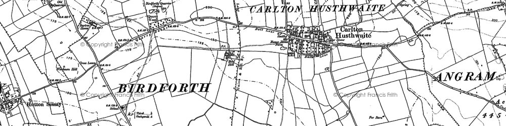 Old map of Carlton Husthwaite in 1890