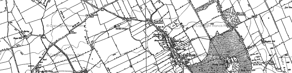 Old map of Thwaites Ho in 1892
