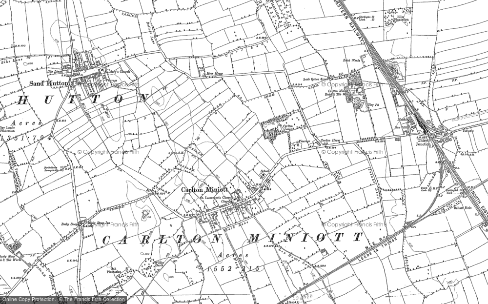Old Map of Historic Map covering Woodhill Grange in 1890
