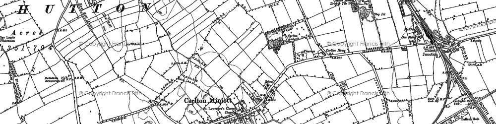 Old map of Woodhill Grange in 1890
