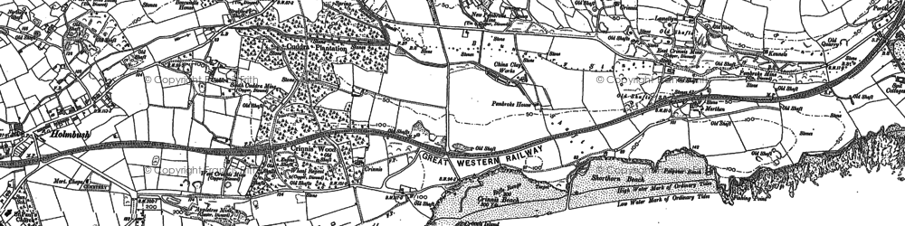 Old map of Carlyon Bay in 1906