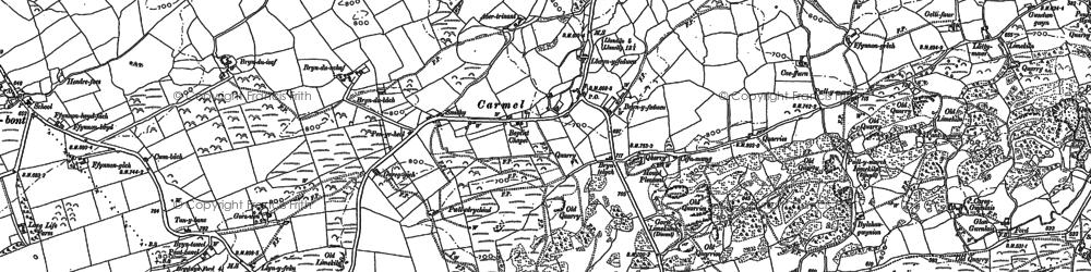 Old map of Carmel in 1877