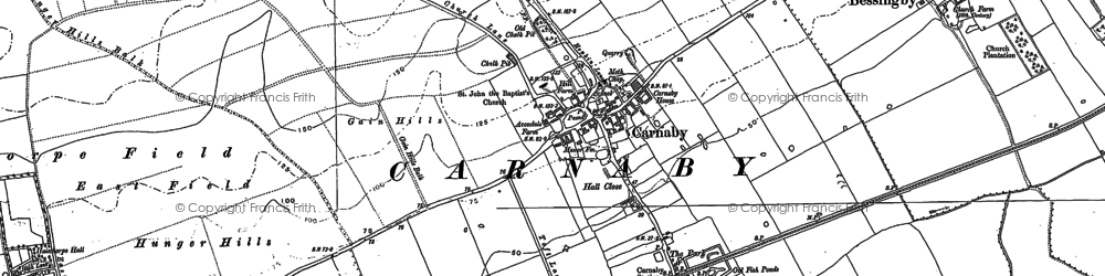 Old map of Carnaby in 1888