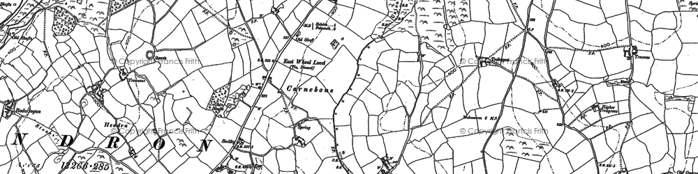 Old map of Carnebone in 1878