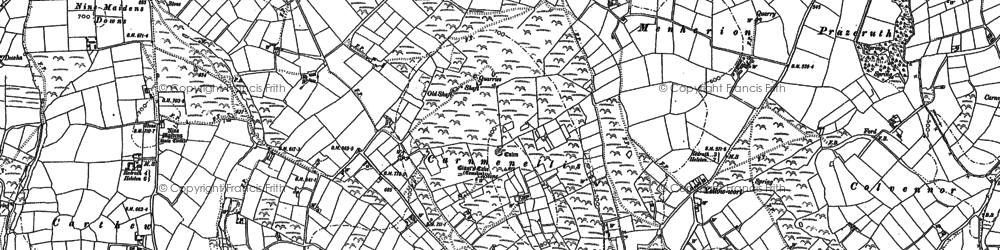Old map of Calvadnack in 1878