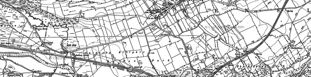 Old map of Carperby in 1891