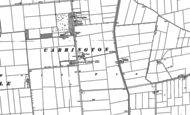 Old Map of Carrington, 1887 - 1888