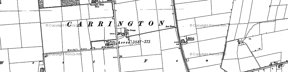 Old map of Barkers Yard in 1887