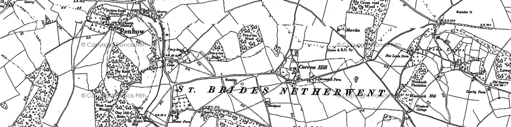 Old map of Woodcock Hill in 1900