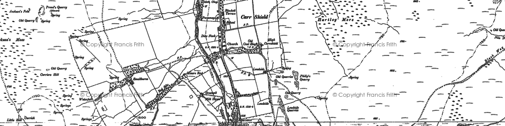 Old map of Whiteley Shield in 1895