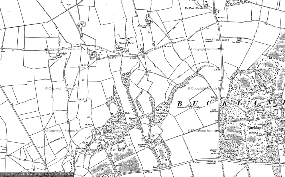Old Map of Historic Map covering Barcote Barn in 1910
