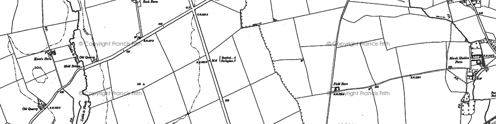 Old map of Alvescot Down in 1898