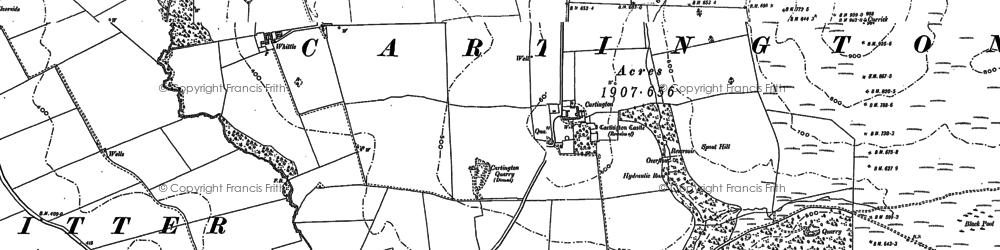 Old map of Whittle in 1896