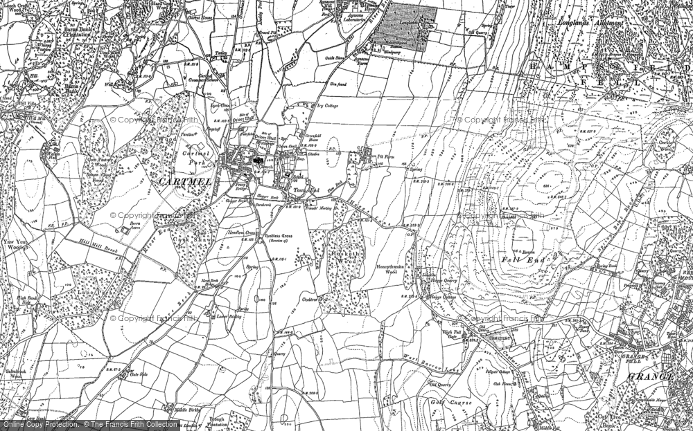 Map of Cartmel, 1848 - 1911