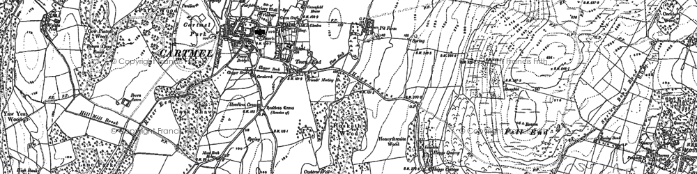 Old map of Aynsome Manor (Hotel) in 1848