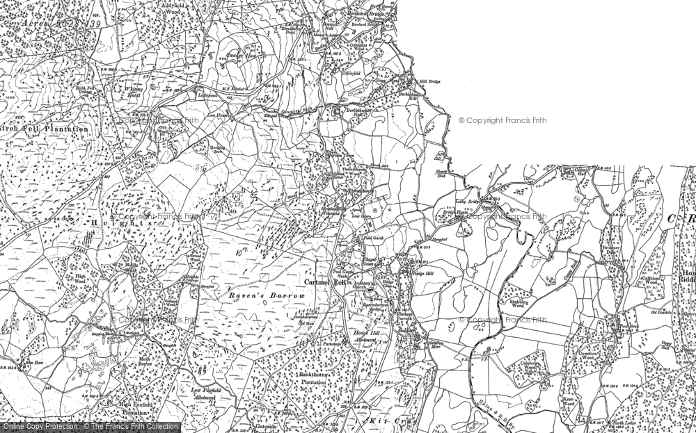 Old Map of Historic Map covering Astley's Plantation in 1912