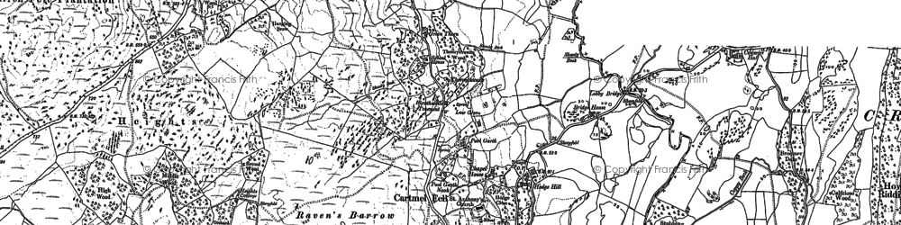 Old map of Astley's Plantation in 1912