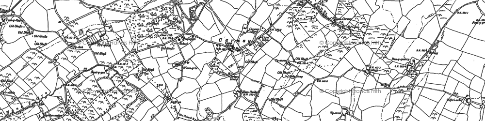 Old map of Afon Morlais in 1879