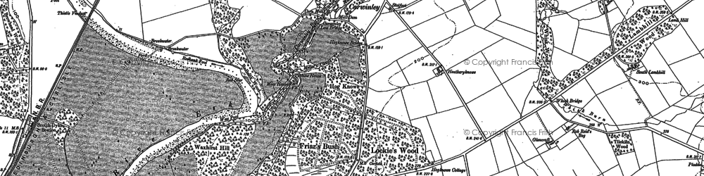 Old map of Willow Pool in 1948
