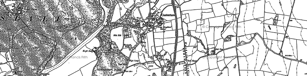 Old map of Langthwaite in 1910