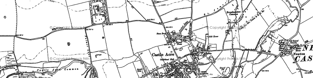 Old map of Bailey Gate in 1883